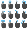 Touch icons vector image