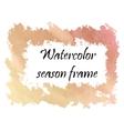 Watercolor autumn frame vector image