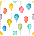Watercolor seamless pattern with colorful balloons vector image