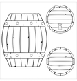 outline of wooden barrel vector image