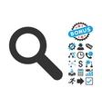 Search Flat Icon with Bonus vector image