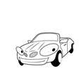 Car racing vector image