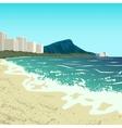 Waikiki beach vector image