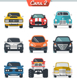 Car icon set 2 vector image