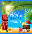 hawaiian party frame vector image