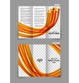 Arrows tri-fold brochure vector image