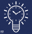 timer and a electricity light bulb sign brain vector image vector image