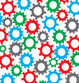 Cog wheel seamless color pattern vector image