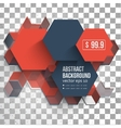 Abstract Design Hexagonal Background vector image
