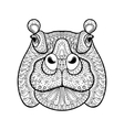 Hand drawn tribal hippopotamus head animal totem vector image