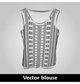Beautiful top shirt summer blous vector image