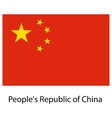 Flag the country peoples republic of china vector image