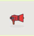 Line slyle loudspeaker icon vector image