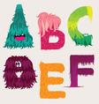 Monster font vector image
