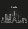 outline french architecture paris panorama city vector image