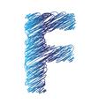 sketched letter F vector image