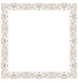 Vintage decorative framework isolated in white vector image