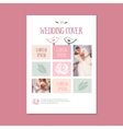 wedding template cover booklet The cover vector image