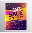 creative biggest sale discount voucher design vector image