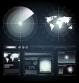screen elements of search radar set vector image