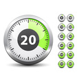 timer - easy change time every one minute vector image