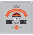 Cycling motivational poster vector image