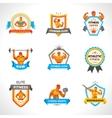Bodybuilding Emblems Set vector image