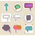 Speech bubbles set Hand drawn and isolated vector image