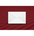 plain envelope red background vector image