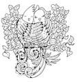 Cute birds in love doodle vector image