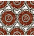 Abstract pattern of black and red stylized circles vector image