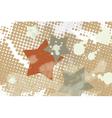 star grunge splash halftone vector image