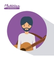 musician man design vector image