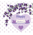 beautiful lavender card for mothers day vector image