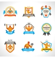 Bodybuilding Emblems Set vector image