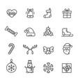 christmas theme set of icons vector image
