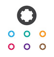 of tools symbol on gear icon vector image