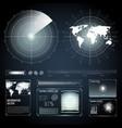 screen elements of search radar set vector image