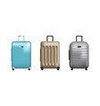 set of clip art suitcases vector image
