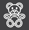 teddy bear line icon plush toy and baby vector image