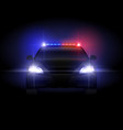 sheriff police car at night with flashing light vector image
