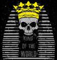 egyptian skull t shirt graphic design vector image