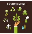 Conservation and environment flat concept vector image vector image