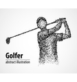 abstract golfer athlete vector image