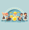 children music band musical vector image