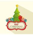 happy merry christmas tree vector image
