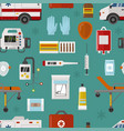 medical icons set care ambulance emergency vector image