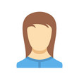 new woman user icon flat vector image