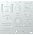 ornate design elements cut paper set vector image
