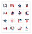Set color icons of 3D printing vector image